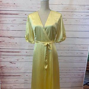 Zara Yellow Pastel Wrap Dress